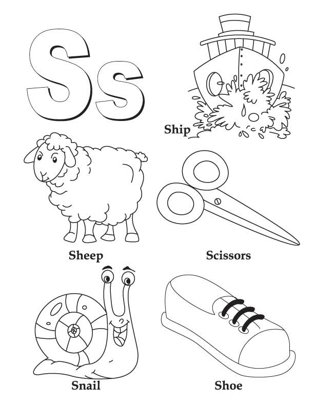 My A to Z Coloring Book Letter S coloring page | Download Free My