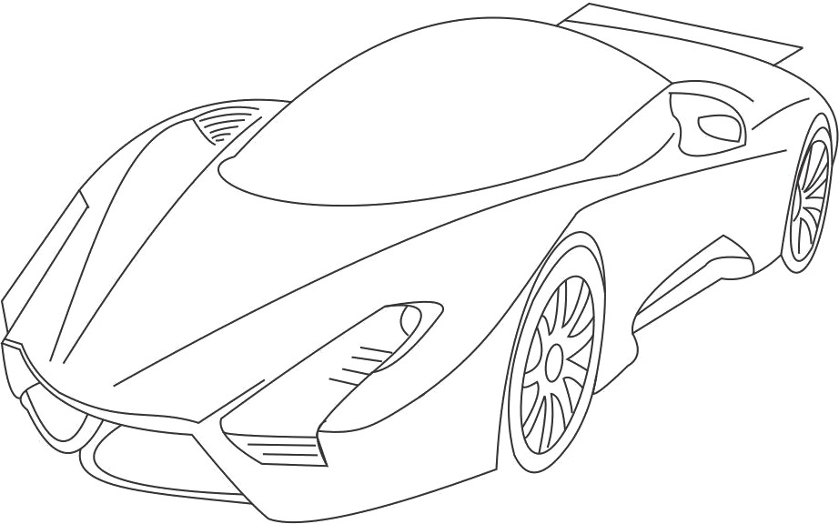 printabl sportcar coloring pages - photo#16