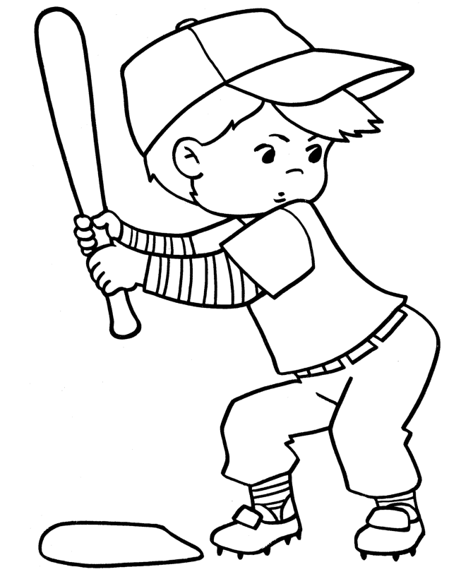 softball coloring pages - photo #13