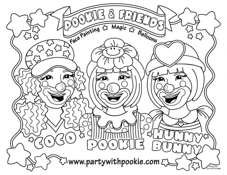 Clown Coloring Pages Pdf : Clown coloring pages girl kids