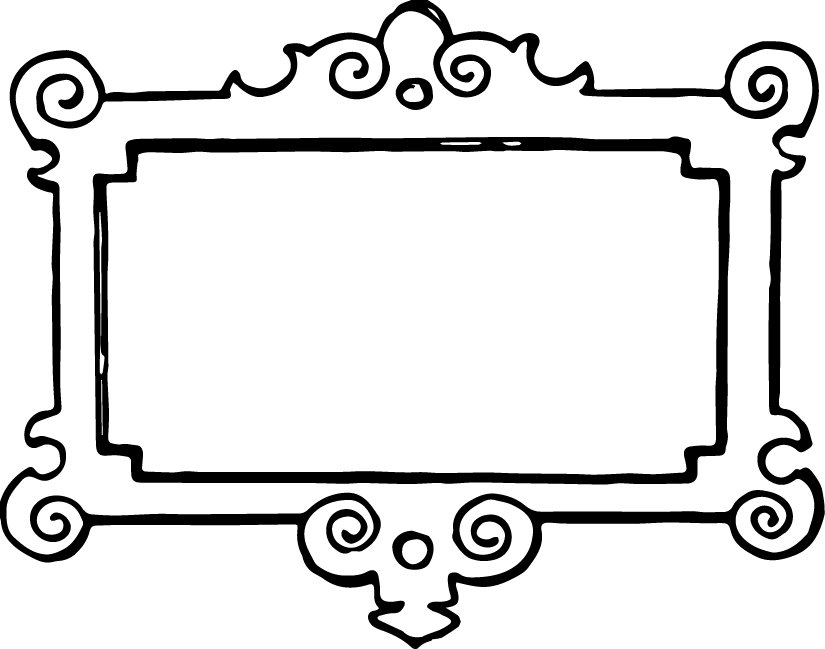 free picture frame coloring pages - photo#12