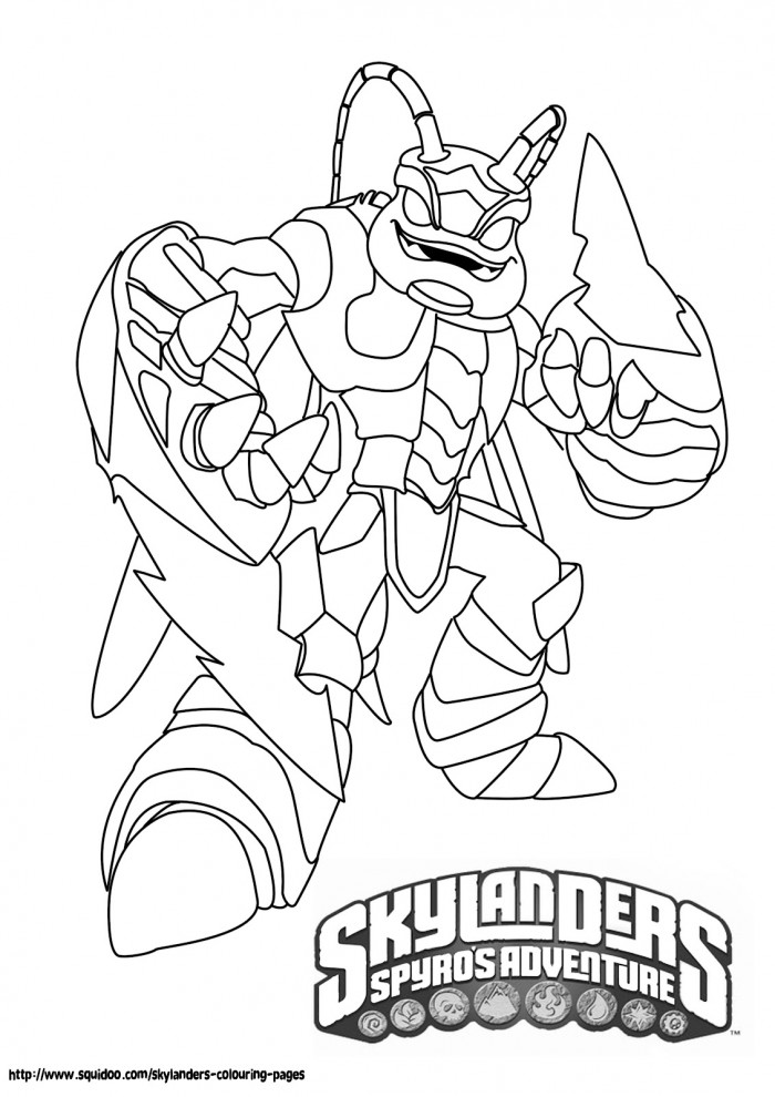 skylanders giant coloring pages - skylander giant coloring pages az coloring pages