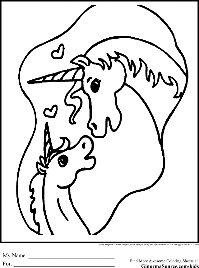 Cute Unicorn Coloring Pages Coloring
