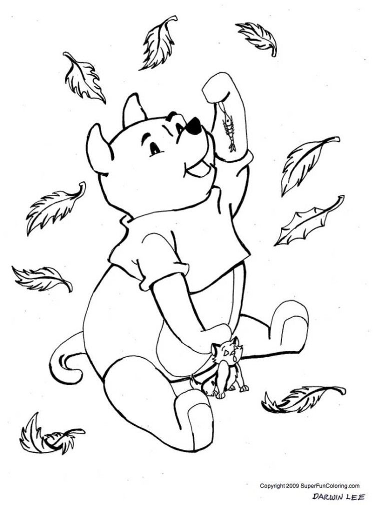Sweet Winnie The Pooh Fall Coloring Pages Best Resolutions