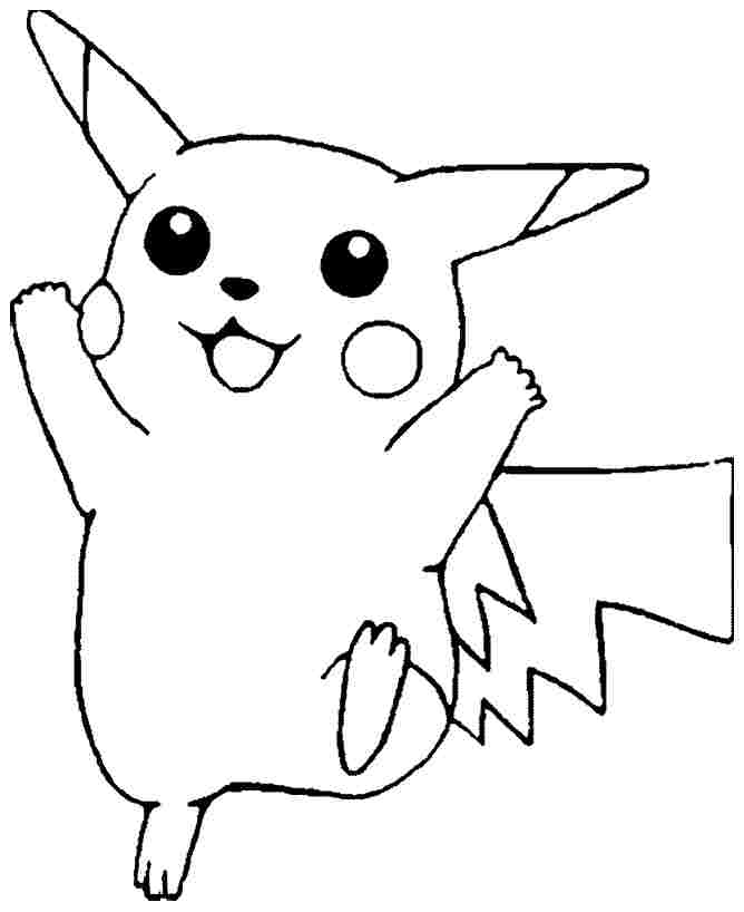 Free Cartoon Pokemon Coloring Sheets For Kindergarten Pictures For To Color