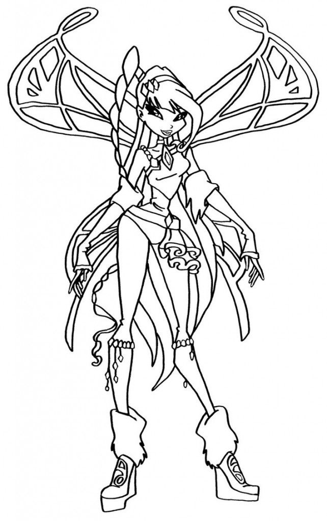 Winx Club 2 Coloring Home Winx Club Musa Coloring Pages