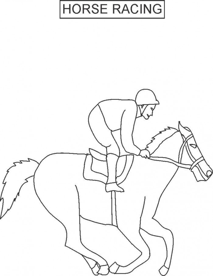 Horse Racing Coloring Pages AZ