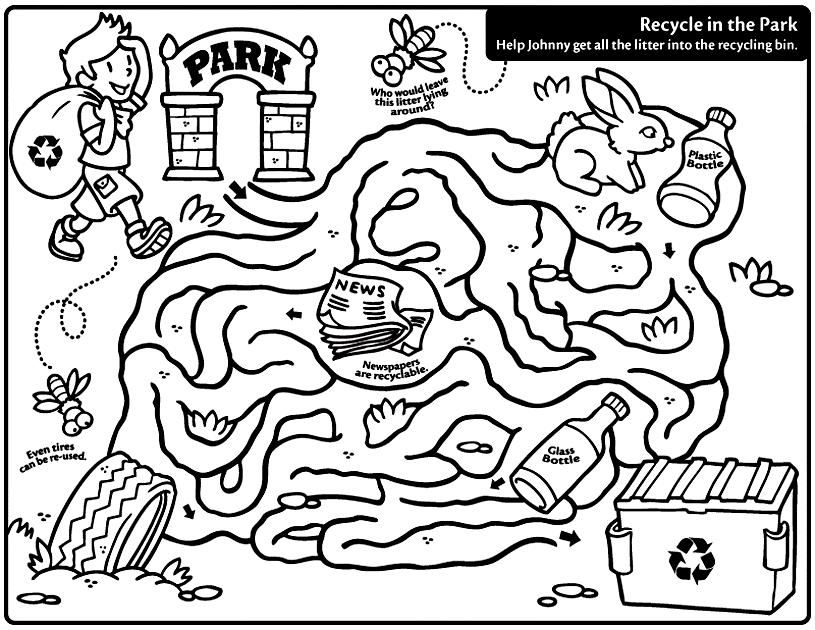 recycle coloring pages - photo#14