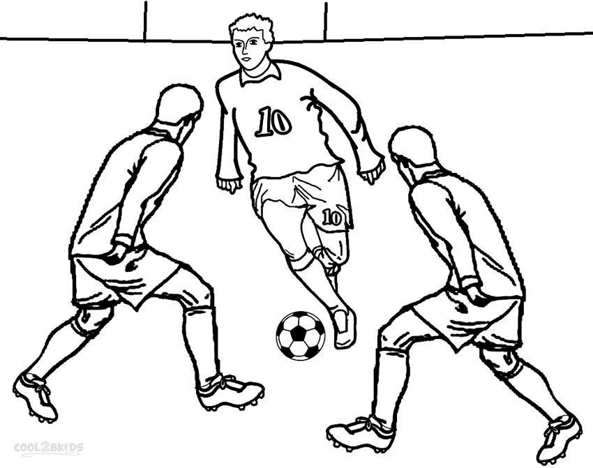 Kids Coloring Football Player Coloring Sheet Football