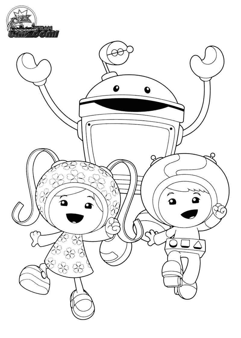 team umizoomi | Marty Line Art