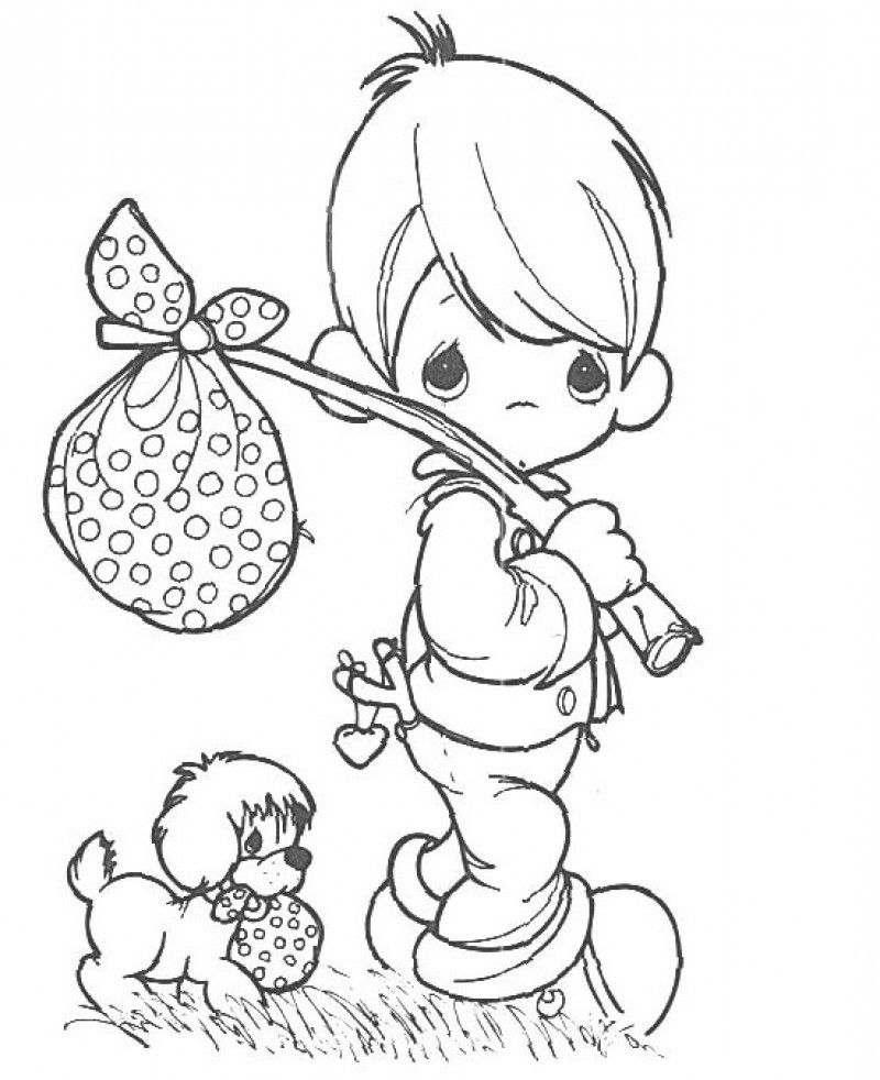 Precious Moments Coloring Book Pages Coloring Home