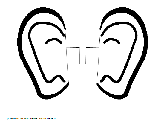 Pair of ears coloring page