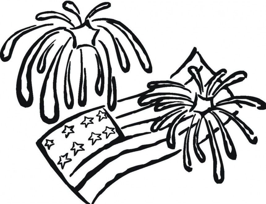 Fireworks Coloring Pages Free Coloring Pages For KidsFree