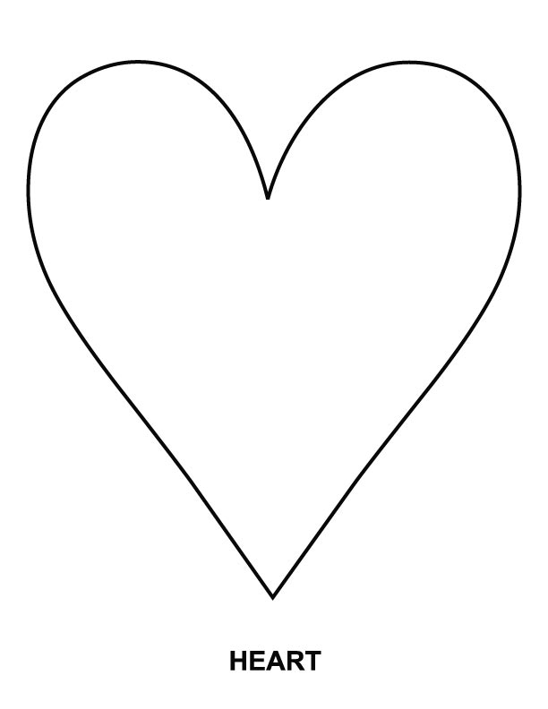 Heart Shape Coloring Pages - AZ Coloring Pages A Coloring Page Of A Heart