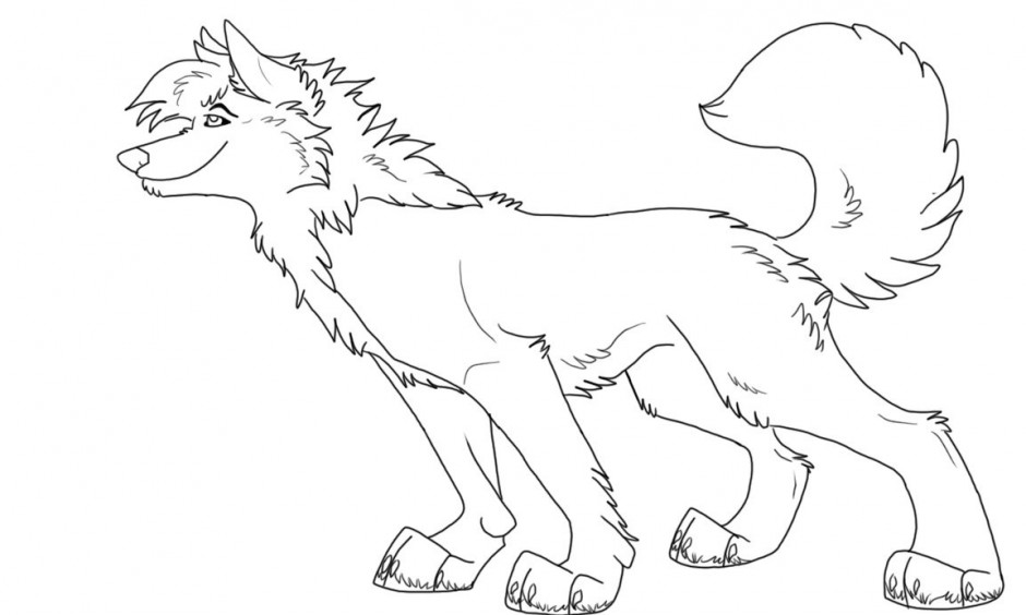 Free Anime Wolf Color Coloring Pages Anime Wolf Coloring Pages Printable