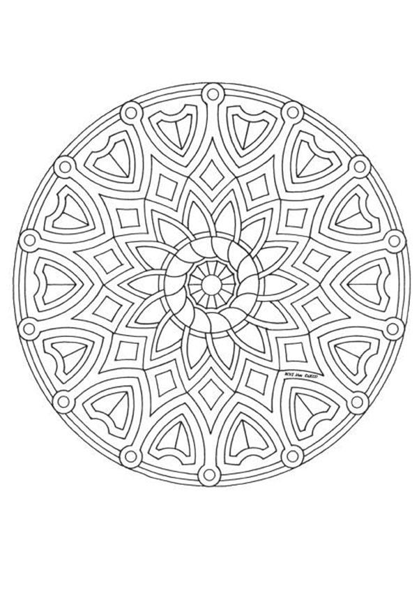 advanced mandala coloring pages printable - photo#10