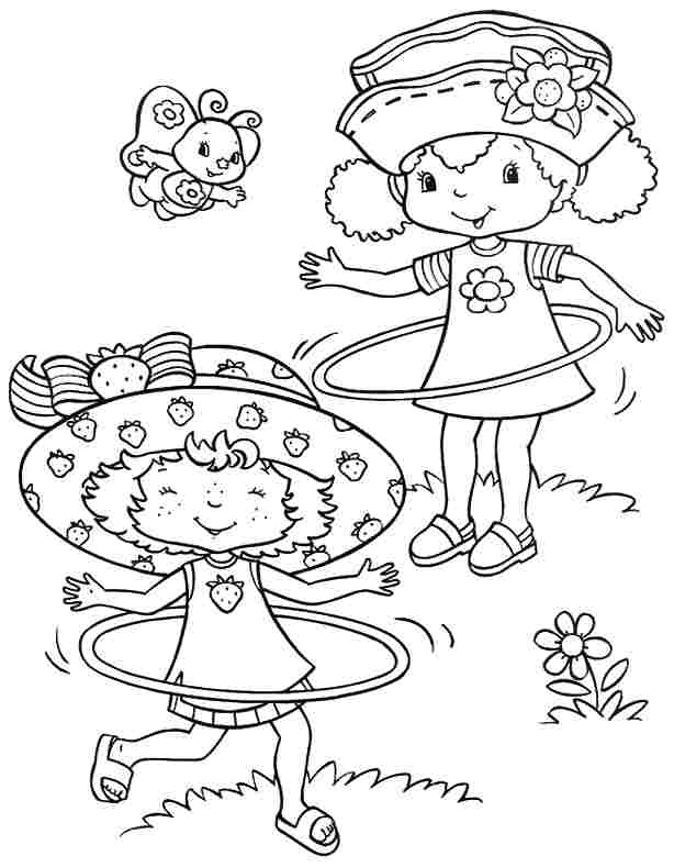 Strawberry shortcake and friends coloring pages az for Coloring pages of strawberry shortcake and friends