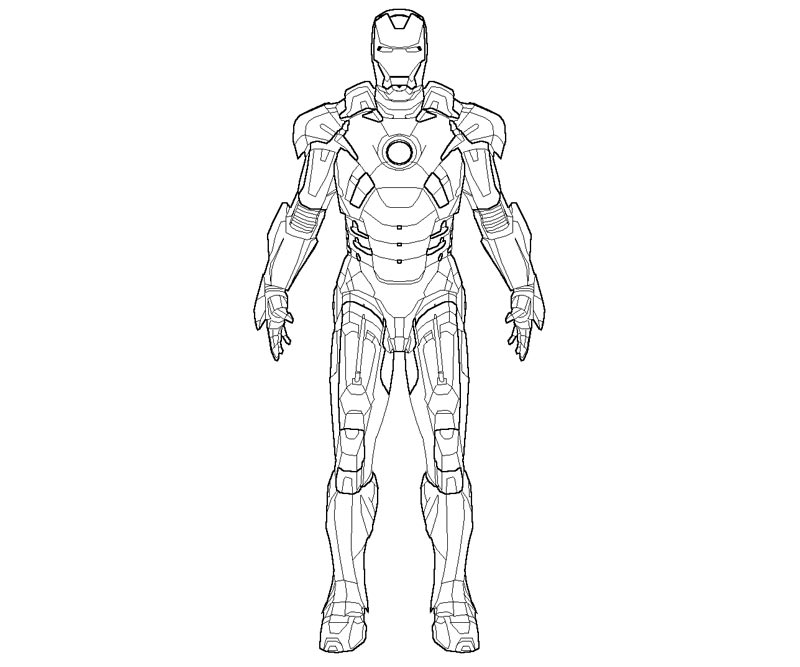 Iron Man Coloring Page Images & Pictures - Becuo