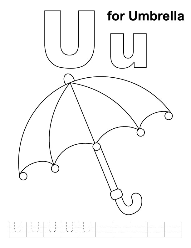 Umbrella coloring pages for kids az coloring pages for Printable umbrella template for preschool
