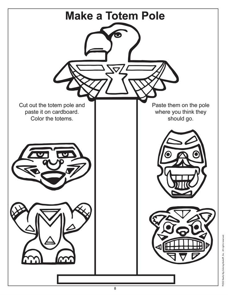 Totem Pole Coloring Page Coloring Home Totem Pole Coloring Pages