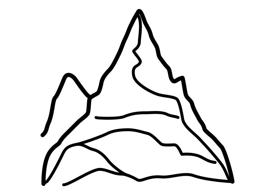 Mountain coloring pages for kids az coloring pages for Mountain coloring pages for kids