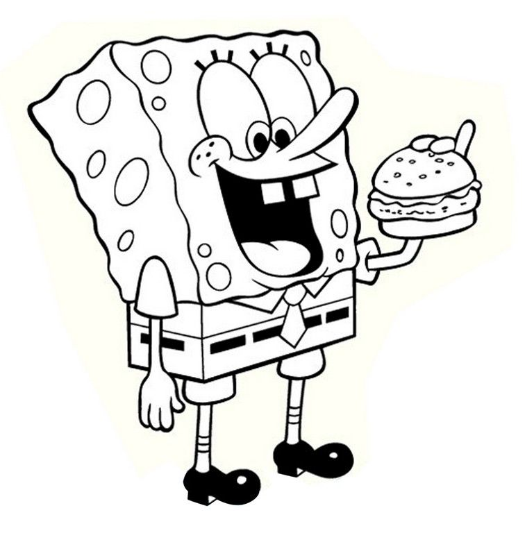 Nickelodeon Spongebob Coloring Pages Coloring Home