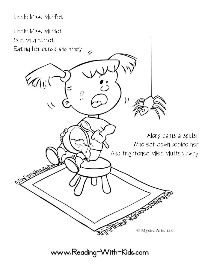 nursery rhyme coloring pages - photo#23