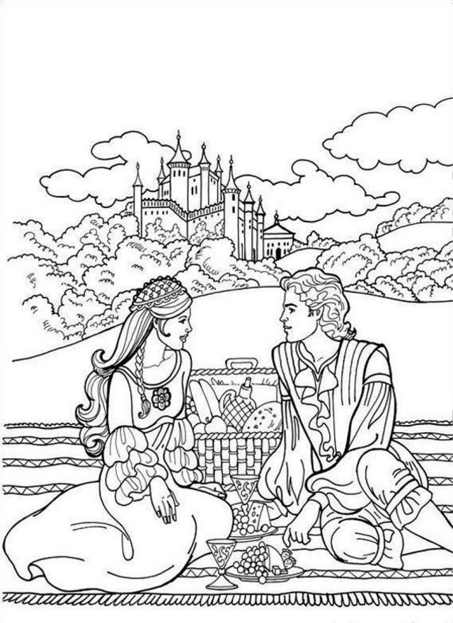 Colouring Pages Princess Castle : Princess castle coloring pages home