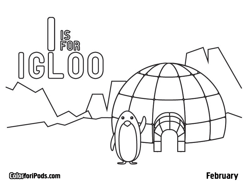 free printable igloo coloring pages - photo#16