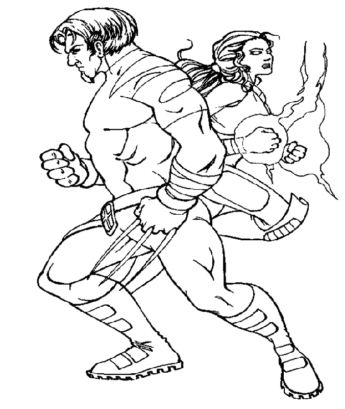 x man wolverine coloring pages - photo #48