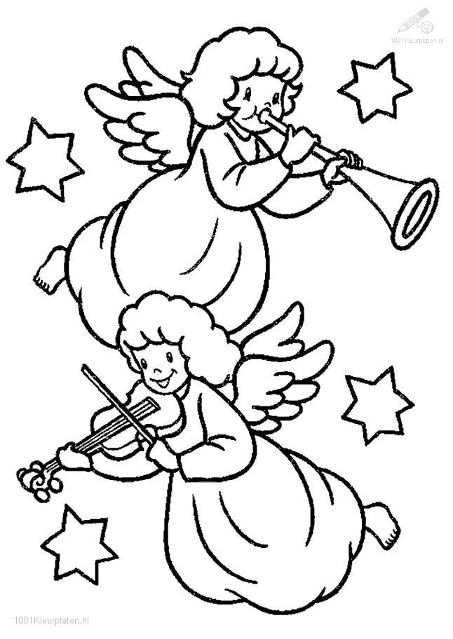 cute angels coloring pages - photo#26