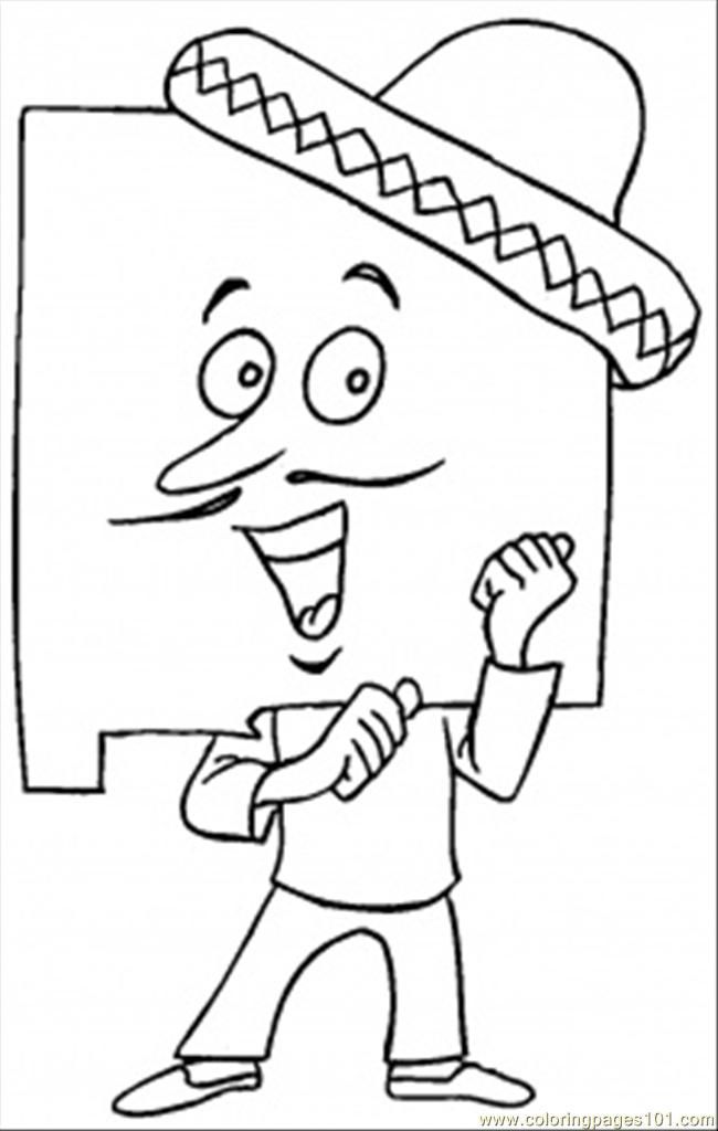 4th of july symbols coloring home for New mexico state symbols coloring pages