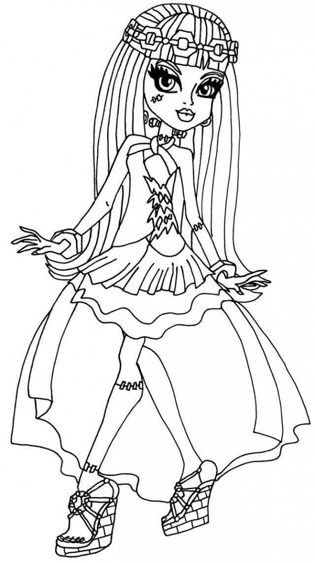 Раскраска для девочек монстр хай 13 желаний распечатать