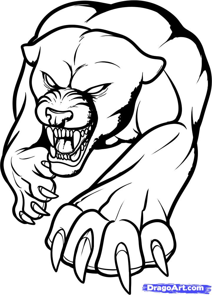 Black bear outline az coloring pages for Ro draw