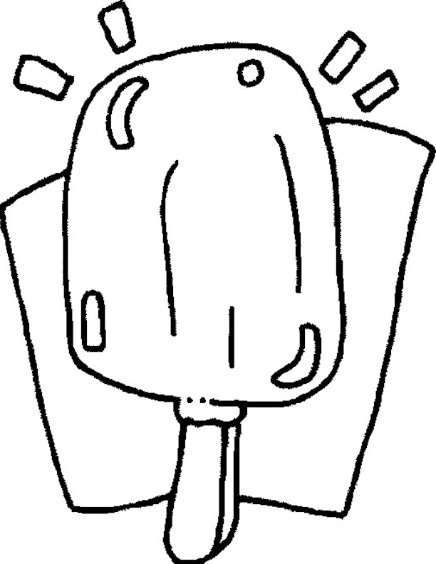 Popsicle Stick Coloring Page Coloring Pages Popsicle Coloring Page