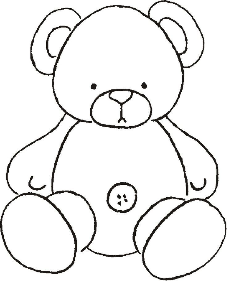 Bear Coloring Pages Pdf : Teddy bear template coloring home