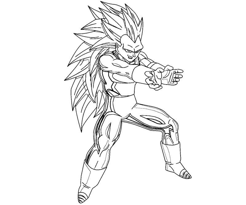 Dragon Ball Z Coloring Pages Pdf : Vegeta coloring crafty teenager home