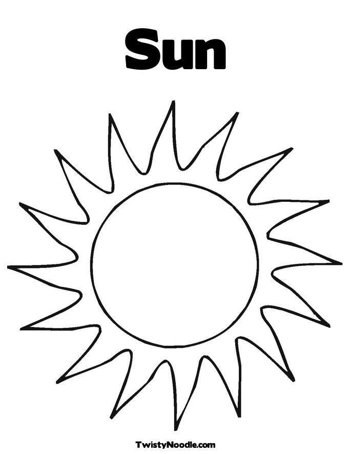 Black And White Sun Coloring Pages To Print Az