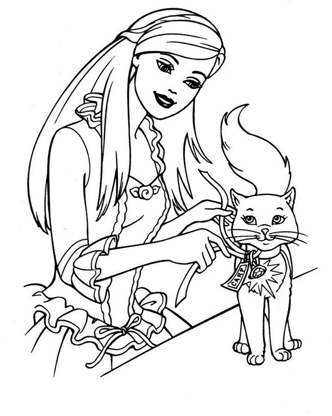 Printable : Fashion Fairytale Coloring Page | 850x678