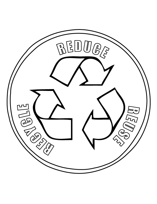 Coloring Pages For Recycling : Recycling coloring pages for kids home