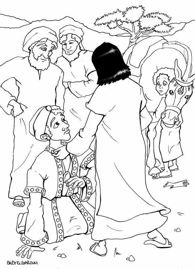Blind Bartimaeus Coloring Page