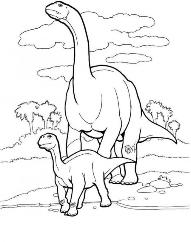 Brontosaurus Coloring Pages - Coloring Home
