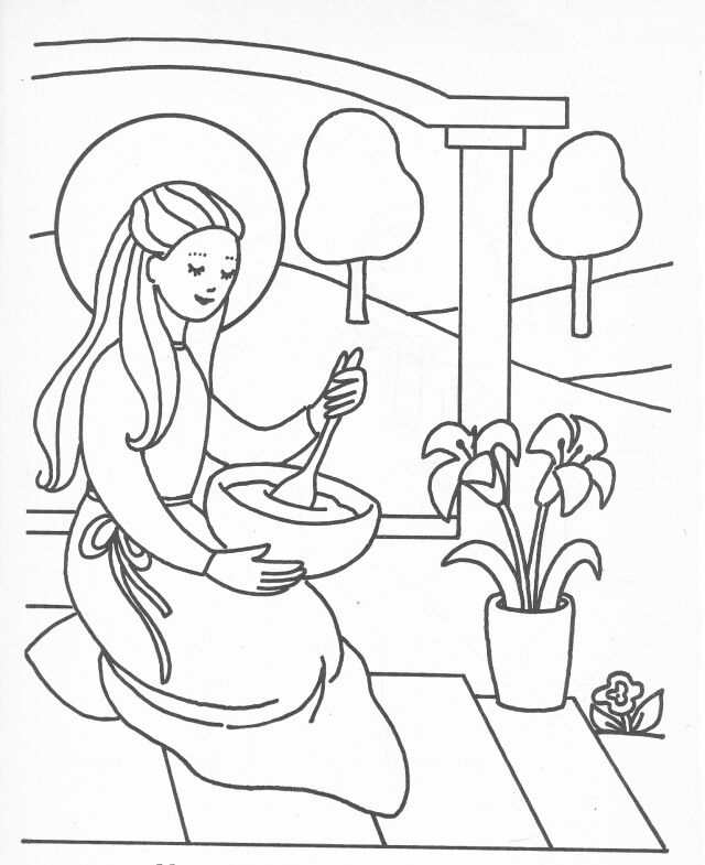 Mary The Mother Of Jesus Colouring Pages - Coloring Home