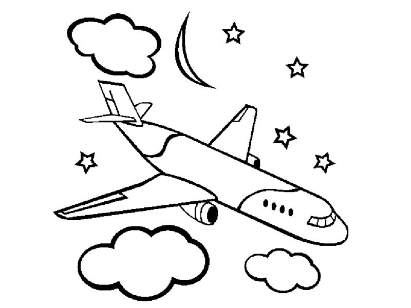 Free Printable Airplane Coloring Pages For Kids | Free coloring