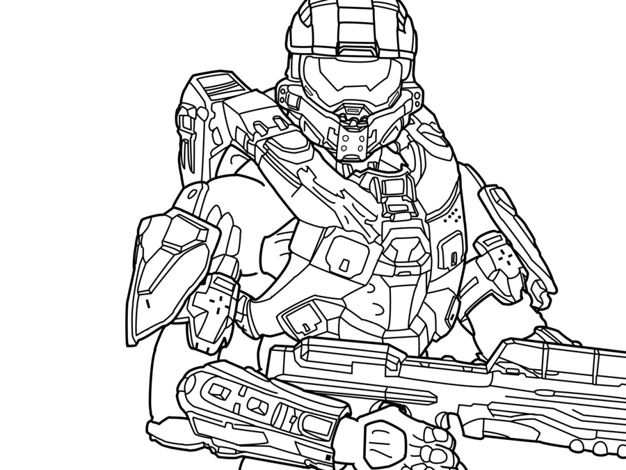 Halo Coloring Pages Coloring Home
