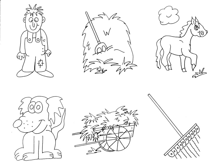 Preschool Farm Coloring Pages
