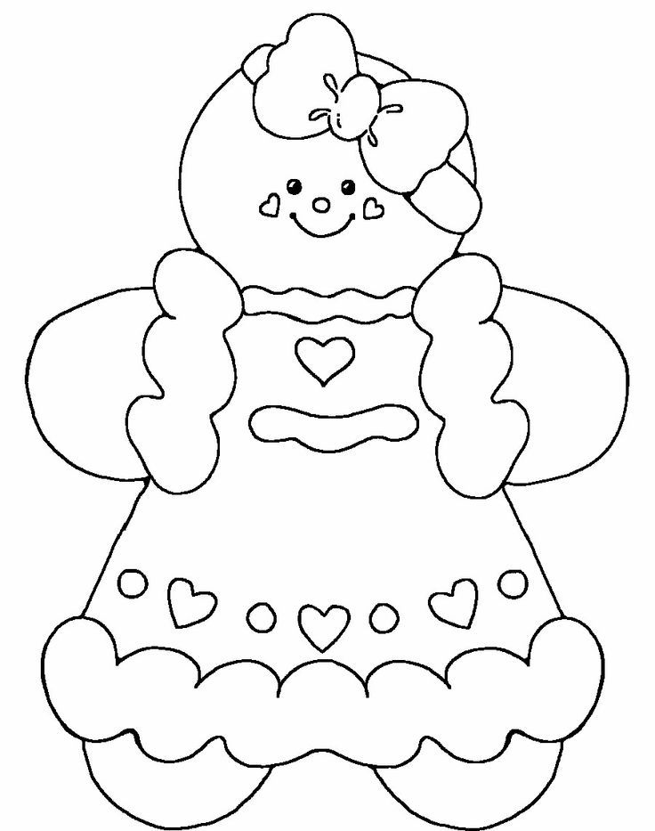Gingerbread Baby Girl Coloring Pages | Seasonal/Holiday Coloring Page ...
