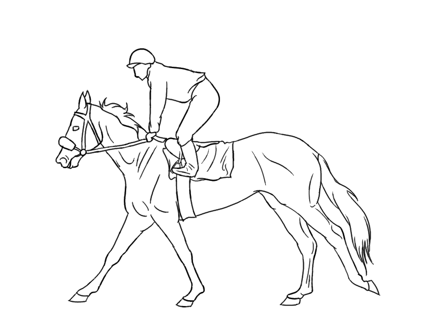 thoroughbred coloring pages - photo#4