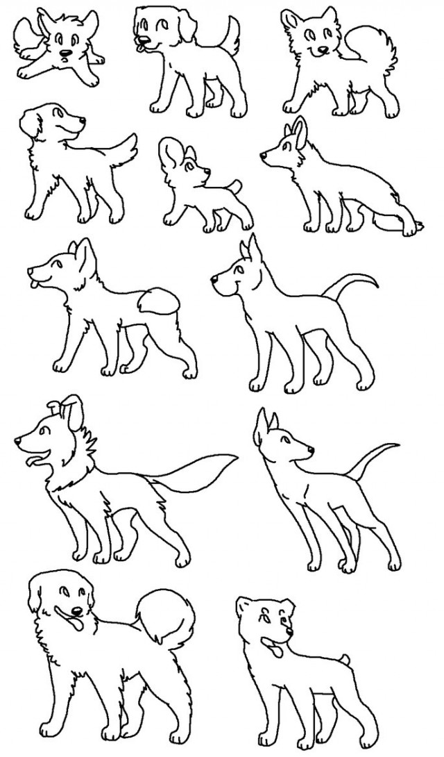 coloring pages of dog breeds - photo#7