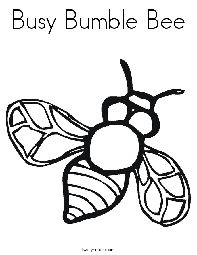 d bumblebee Colouring Pages